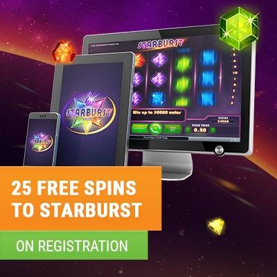 Get 25 Free Spins To Starburst After Registration At Coolbet